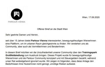 Offener Brief an die Stadt Wien