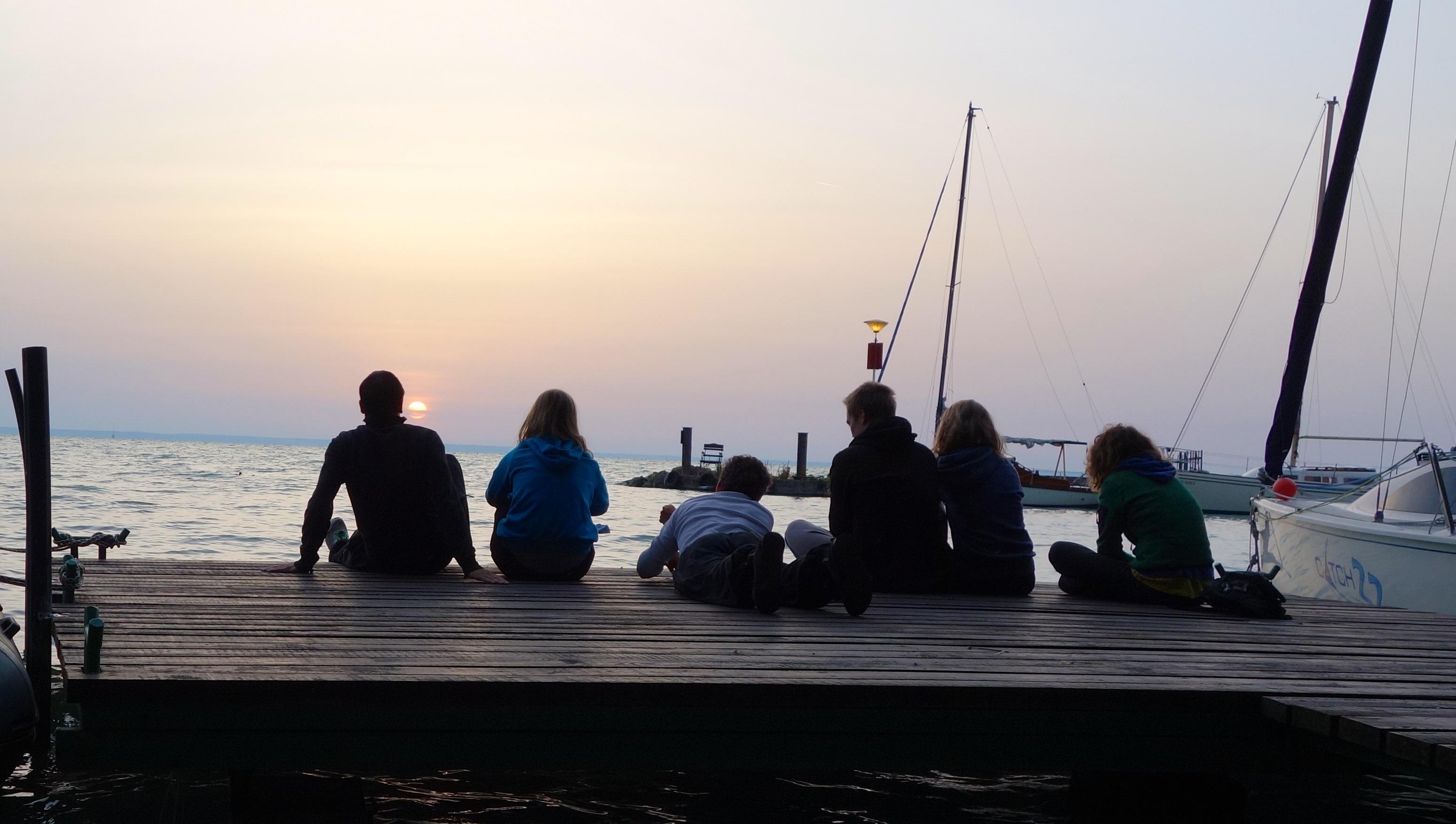 Gruppenbild - Sonnenaufgang