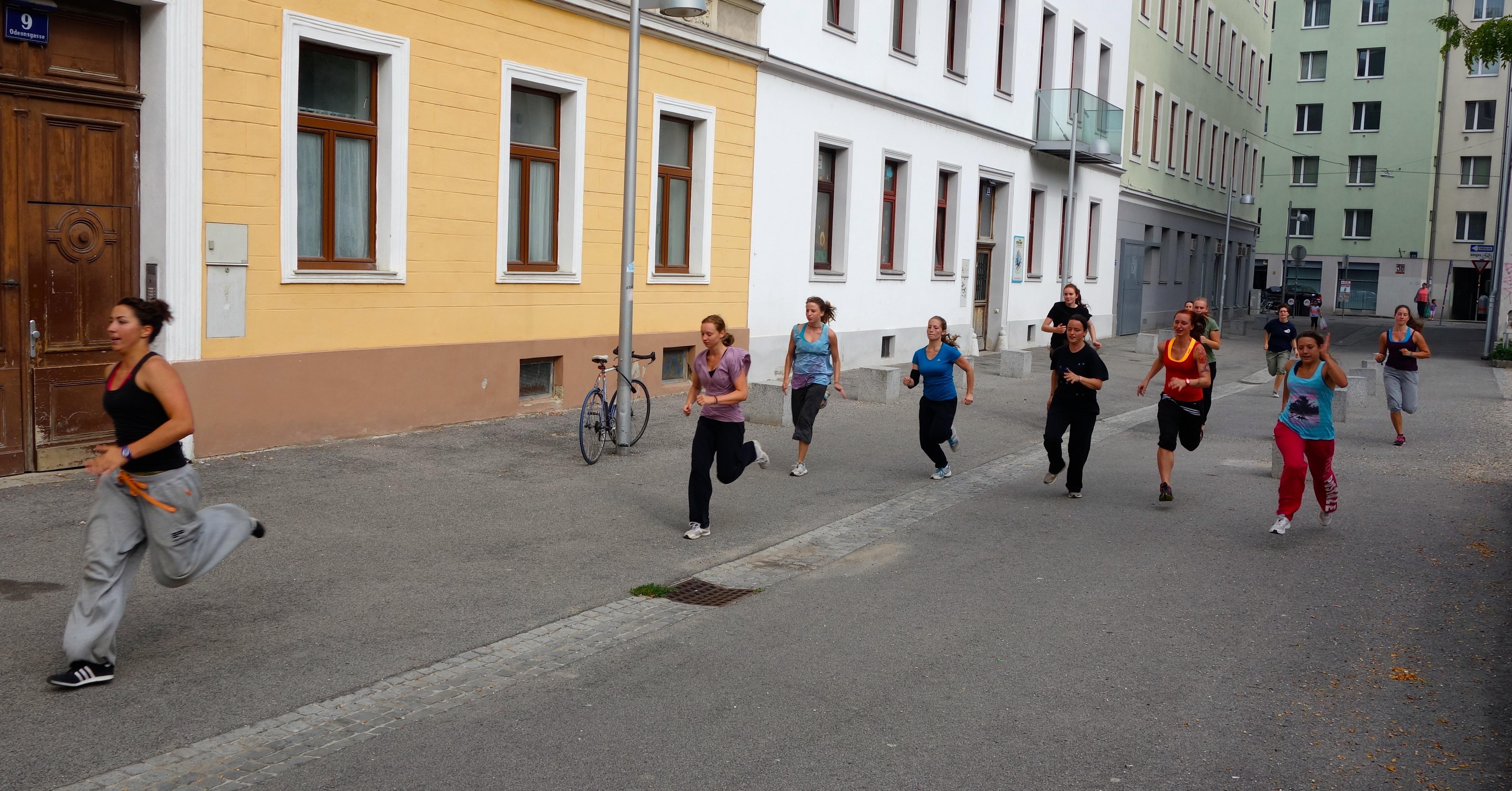 Aufwaermen laufen #2
