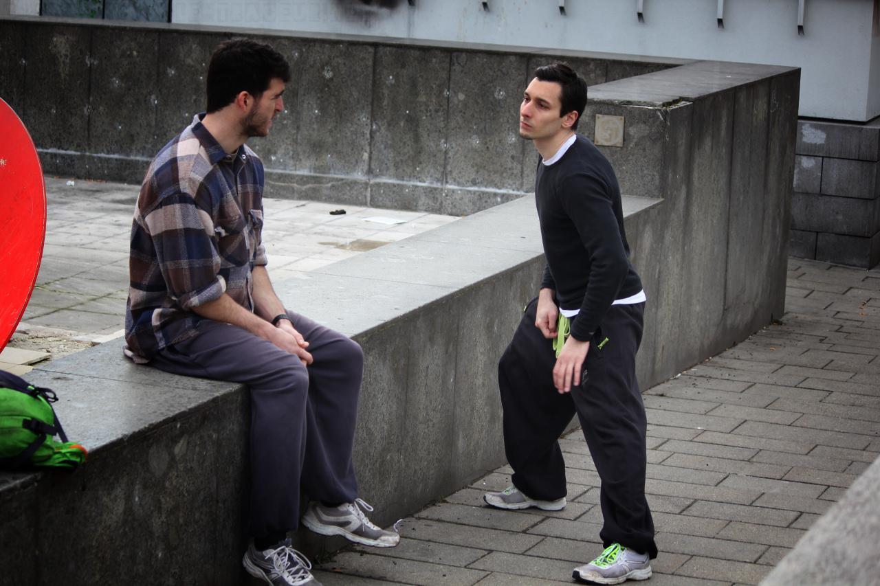 Coaches Mokka and TOM (flirting)