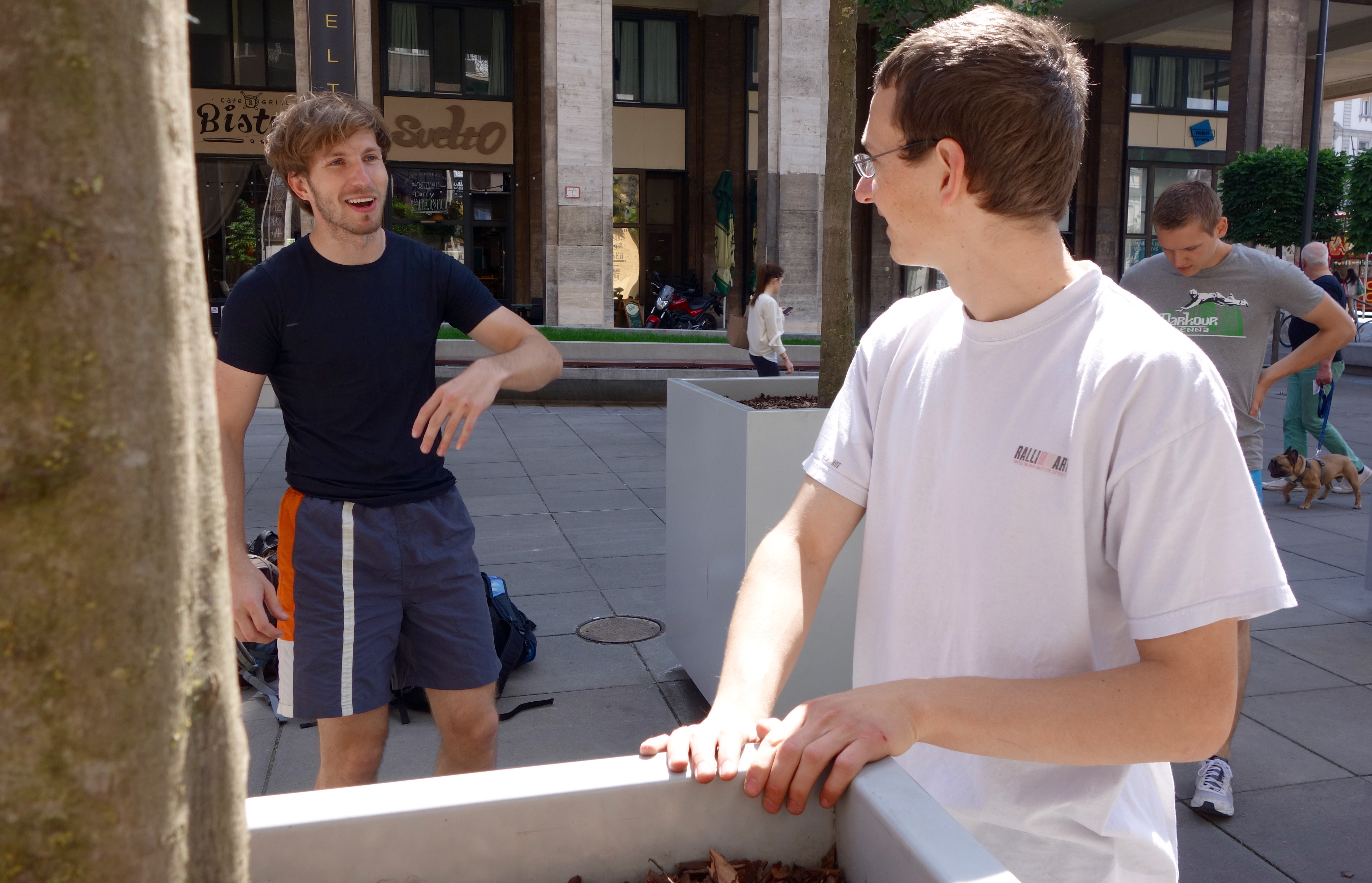 Marc und Elmar talking