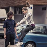 Girl moving