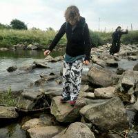 Steinpräzis im Wasser