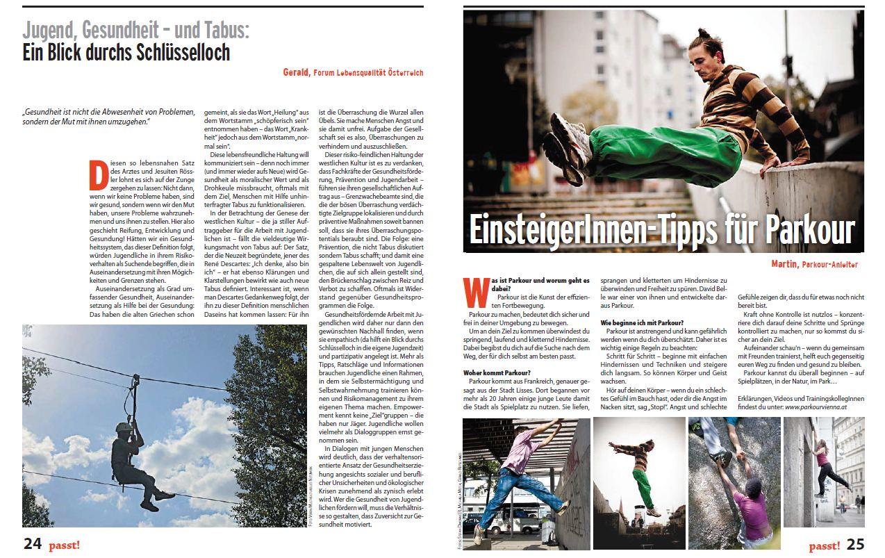 Passt! - Zeitung der Wiener Jugendarbeit