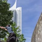 Donauinsel - Armsprung seitlich